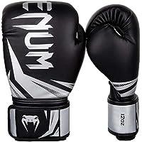 Venum Challenger 3.0 Guantes de Boxeo, Unisex Adulto, Negro/Plateado, 12oz