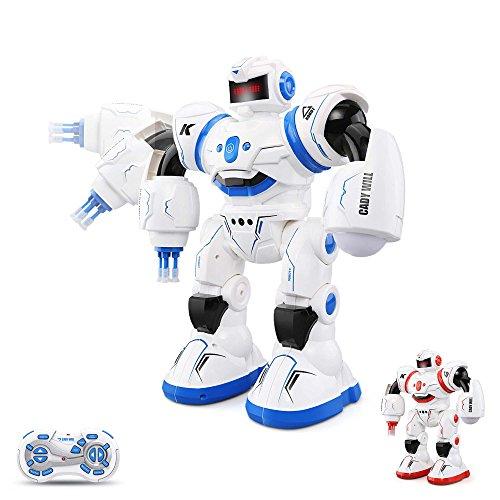 HSP Himoto Neuheit RC Ferngesteuerter 2,4Ghz programmierbarer Roboter mit Tanz- und Schussfunktion, Sound- und Musikfunktionen, Steuerung per Handbewegung und vieles mehr, OVP
