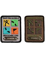 Geocaching Trackable Patches & Geocache