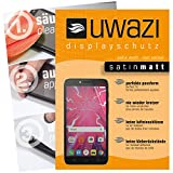 Alcatel Pixi 4 Plus Power Schutzfolie 5x uwazi satin-matt Displayschutzfolie Folie