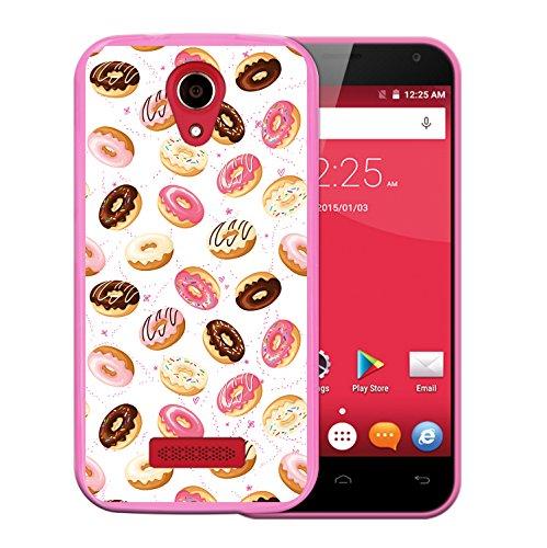 WoowCase Doogee X3 Hülle, Handyhülle Silikon für [ Doogee X3 ] Donuts Handytasche Handy Cover Case Schutzhülle Flexible TPU - Rosa