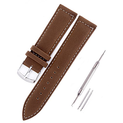 Leder Uhrenarmband 18mm,Uhrband Armband Uhrenarmbänder Watch Band Ersatzarmband für Uhren Braun