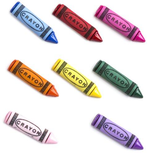 Récréatys 7112 bottoni decorativi 01303 sotto forma di pastelli, nylon, 8 pezzi - Pastelli Cucire