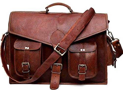 Echtes Leder Messenger Bag voller Klappe Laptop-Tasche Eco-Friendly Leder Cross-Body Bag - Eco-friendly Messenger Bag