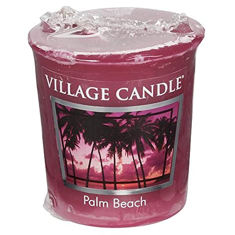 Village Candle Palm Beach Votive Candle, Red