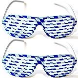 2 X Shutterbrille FREISTAAT BAYERN Oktoberfest Wiesn Brille Shutter Blau Weiß