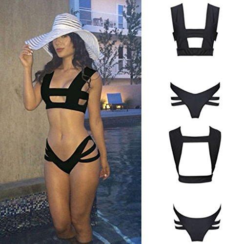 SSITG bandage Bandeau Bikini Badeanzug Bademode Swimwear Bikiniset #21