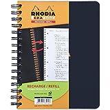 Clairefontaine 133572C - Rhodia cuaderno recambio exabook con espiral 5x5, 160 páginas, A5+