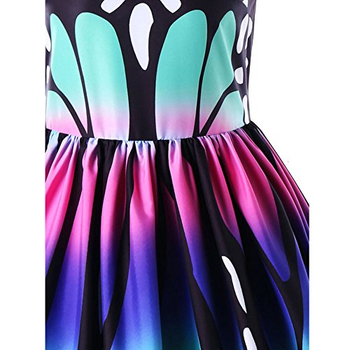 Vêtements LILICAT Womens Fashion et chic robe de soirée sans manches imprimé papillon Vintage Swing Lace Dress S-5XL Multicolore