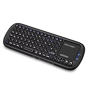 TeckNet X340 Mini Bluetooth Wireless Handheld Keyboard with Touchpad Mouse and LED for Mac / New iPad / Google Android TV / PC / iPhone / Android 3.0 Tablet