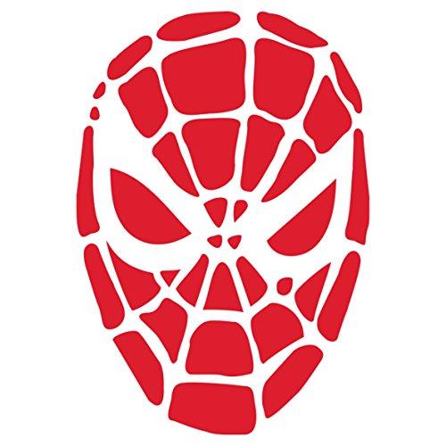 Spiderman Maske Schablone-wiederverwendbar Creepy Urlaub Spooky Spider Maske Wand Schablone-Vorlage, auf Papier Projekte Scrapbook Tagebuch Wände Böden Stoff Möbel Glas Holz etc. Größe S (Spider-tagebuch)