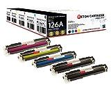 Original Reton Toner, kompatibel, 5er Farbset für HP CP1025NW (CE310A, CE311A, CE312A, CE313A), HP 126A, COLOR LASERJET PRO M175 MFP, PRO 100 M175A, PRO 200 M275NW, TOPSHOT PRO M275NW