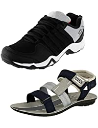 Tempo Men's Combo Pack of 1 Shoes and 1 Sandal (DANGLE/SPR54)