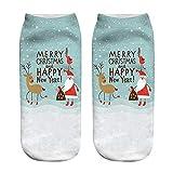 YWLINK Herren Damen Weihnachten 3D Mode Drucken Niedlich Low Cut SöCkchen BeiläUfig Socken Unisex
