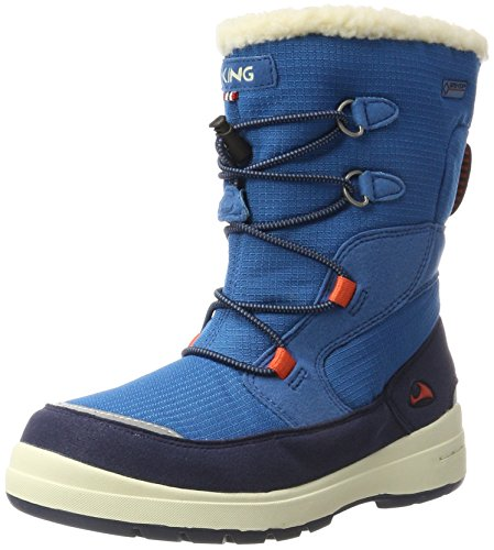 Viking Unisex-Kinder Totak Bootsportschuhe, Blau (Petrol/Navy), 32 EU