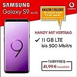 Samsung Galaxy S9 Dual Sim (lilac purple) 64GB Speicher Handy mit Vertrag (Vodafone Smart XL) 11GB Datenvolumen 24 Monate Mindestlaufzeit [Exklusiv bei Amazon]