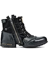 Replay Mens Clutch Zip Leather Boots