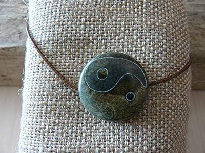 Pendentif yin et yang, pendentif tibétain, collier homme, pendentif talisman, cadeau homme, pendentif zen, perle dzi, zen, yoga