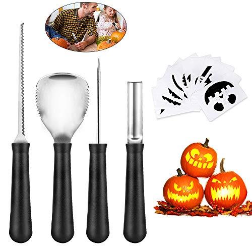 Carving Pumpkins Muster - Halloween Kürbis Schnitzset , otumixx 4-tlg