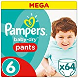 Pampers - Baby Dry Pants - Couches Taille 6 (+15 kg/XL) - Mega Pack (x64 culottes)