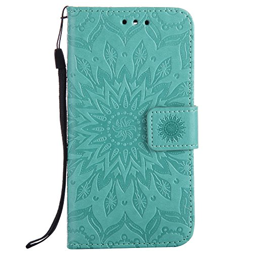 BoxTii Google Pixel Case [with Free Tempered Glass Screen Protector], Leather Wallet Case with [Lanyard Strap] for Google Pixel, Shockproof Flip Case for Google Pixel (#1 Flower Design)