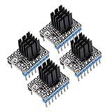 King Print TMC2208 Stepper Dämpfer mit Kühlkörper-Treiber, Ersatz-Dämpfer für A4988 DRV8825 für 3D-Drucker (4 Stück)