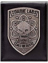 Cartera de Call of Duty Zombies Insignia de Plata Negro
