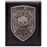 Cartera de Call of Duty Zombies Insignia de Plata Negro