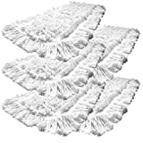 5er Pack Einweg Wischmop aus 100% Baumwolle Wischmopp 50 cm - Baumwollmopp - Wischbezug zur Echtholz trocken und nass Bodenpflege - Ideal für geöltes Parkett Dielen Laminat & Fliesen und Werkstätte mit Metallspähnen (50 cm)