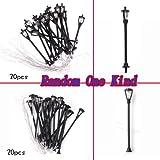 20Pcs Single-Head Model Garden Lights Lamppost Lamp Layout Scale: 1/100--Black