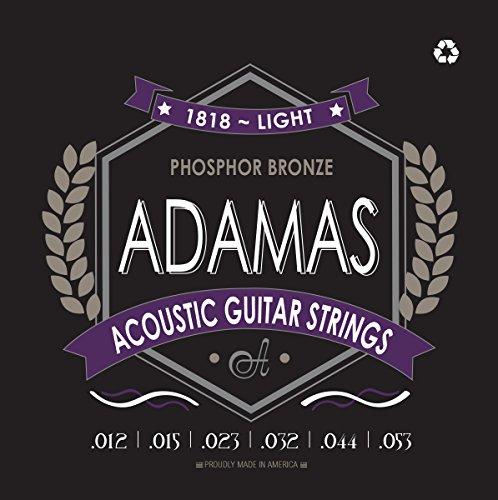 Adamas ov1818e Light (.012-.053GA) Phosphor Bronze Akustik Gitarre Saiten