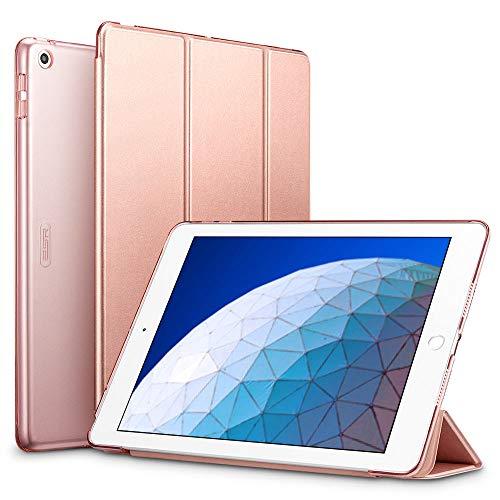 ESR Hülle kompatibel mit iPad Air 3 2019 10.5 Zoll - Ultra Dünnes Smart Case Cover mit Auto Schlaf-/Aufwachfunktion - Kratzfeste Schutzhülle für iPad Air 3th Generation - Roségold