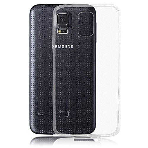 delightable24 Cover Case in Silicone TPU per Smartphone SAMSUNG GALAXY S5 / S5 NEO - Transparente / Invisibile