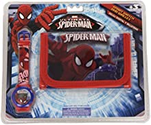 Spiderman - Set reloj digital y billetera (Kids MV10046)