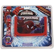 Spiderman - Set reloj digital y billetera (Kids MV10046)