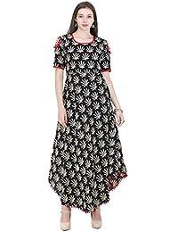 AnjuShree Choice Women Stitched Cotton Printed Anarkali Kurti / Kurtis For Women