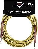 Accessoires guitares FENDER CUSTOM SHOP CABLE POUR INSTRUMENT 6M TWEED Cables instrument