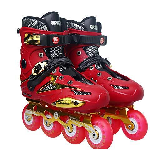 SKATE Patins à roues alignées sport réglables pour enfants et adultes, patins à roues alignées avec toutes les roues lumineuses, pour filles et garçons, hommes et dames Rouleau