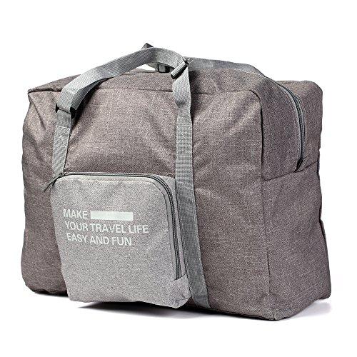 Aufrechte Gepäck (Reisen Falten Großes tragen Gepäck Tasche Tote Bagage Organizer Faltbares Reisegepäck Big Bags (Grau))