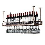 LXDDP Support à vin en Bronze - Support en Verre à vin Suspendu en Fer de Style...