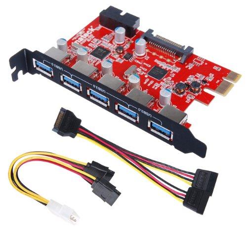 SB 3.0 (5Ports), 20-poliger Anschluss mit 15-poligem SATA-Anschluss, 4-poliges 2-x-15-Pin-Kabel, ein Y-Kabel (flexibles SATA-Kabel) (Usb-zu-15-pin-kabel)