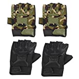 #6: Rrimin Cycling Motorcycle Bike Riding Half Finger Gloves Fitness Gloves
