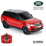 Cmj Rc VoituresTM Range Rover Sport Produit Officiel Télécommande Voiture pour Enfants et Adultes Aussi Bien avec Fonctionne Lumières LED,Télécommandé Super sur la Route 1:24 Modèle,RTR ,EP Blanc R/C