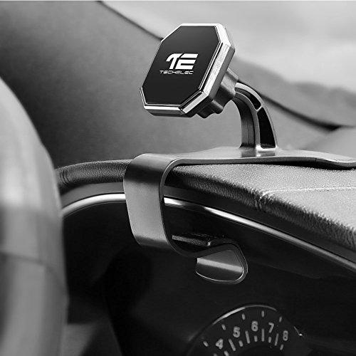 TechElec Armaturenbrett Universal Handyhalterung Magnet Auto Halter, KFZ Handy Mount für Smartphones, iPhone, Samsung, Huawei oder GPS-Gerät