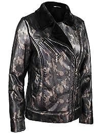 majamo Damen Jacke Tarnjacke, GEFÜTTERTE Winterjacke mit Camouflage-Muster,  Übergangsjacke… 371c3f7bd5