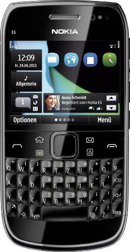 Nokia E6 Smartphone(6,2 cm, (2,46 Zoll) Display, Touchscreen, QWERTZ-Tastatur) black