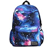 Kuriertasche, Wasserdichte Laptoptasche Galaxy Lila, Blau Mode Neutral Leinwand Schultasche Schulrucksack Mädchen Jungen Rucksack College Bag ( Color : Blue )