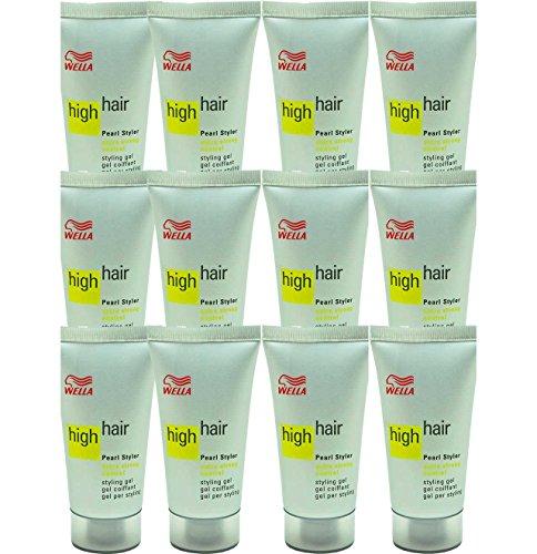 12x Wella High Hair Pearl Styler Styling Gel - 30ml - Extra Starker Halt