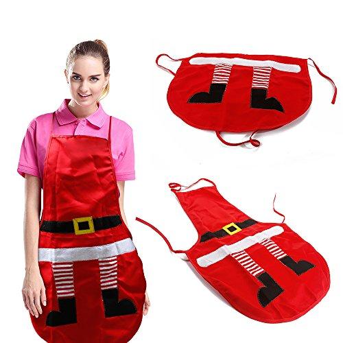 Delantal Navidad Mujer Chica Cocina Hogar Rojo