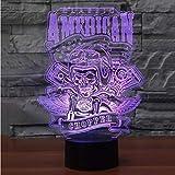Led Wohnkultur 7 Farben Ändern Motorrad Modellierung 3D Luminarias Tischlampe Usb Touch Schädel Lampe Cool Boy Night Lichter Geschenke